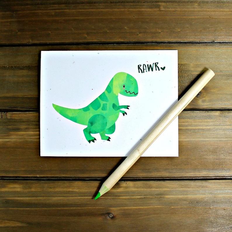 Dinosaur Card Dinosaur Valentines Card Rawr Means I Love You image 0