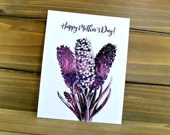 Lilac Mother's Day, Lilac Card, Floral Mother's Day, Card for Mom, Mom Card, Flower Mother's Day Card, Real Foil Card (07-0009-017)