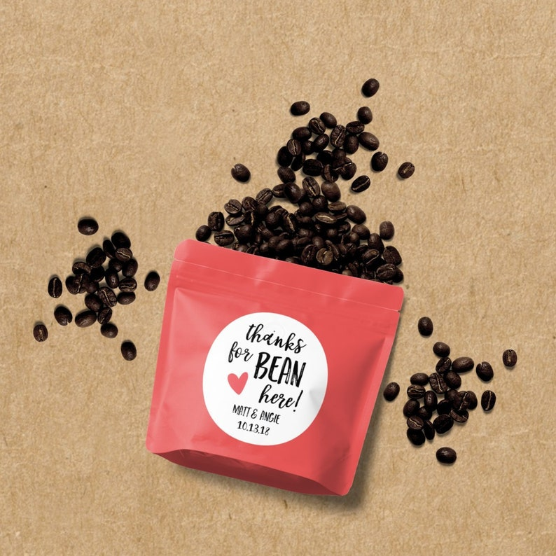 Thanks for Bean Here Jelly Bean Favor Coffee Bean Favor image 0