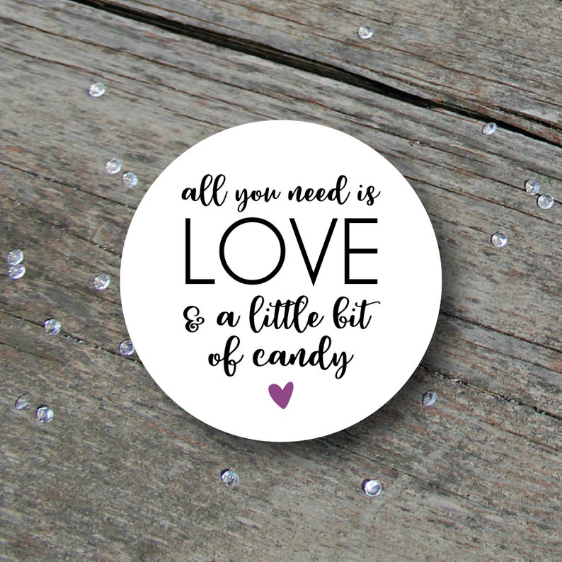 Wedding Candy Stickers Wedding Candy Labels Wedding Candy image 0