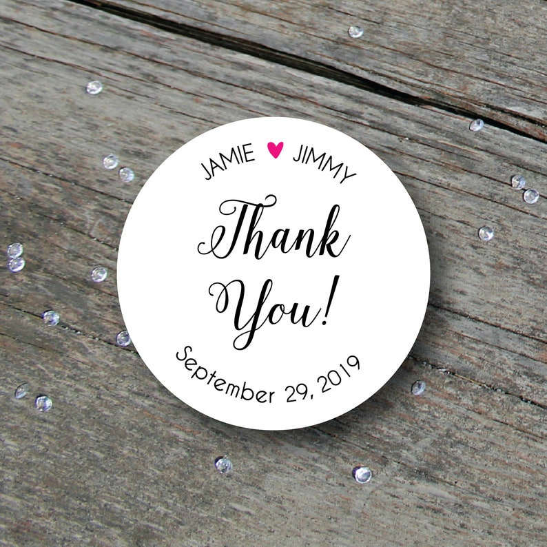 Wedding Thank You Sticker Wedding Thank You Label Wedding image 0