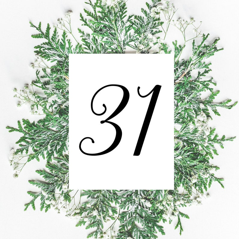Table Number Signs Wedding Table Numbers Simple Wedding image 0