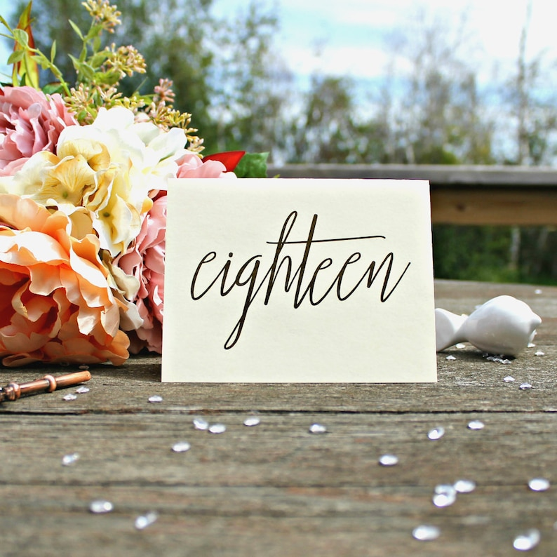Tented Table Numbers Table Number Cards Wedding Table image 0