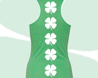 c972e9e78db6d0 St. Patrick s Day - Shamrock - Women s Racerback Tank Top - Kelly Green -  Irish  Fitness   Activewear   Athletic   Tank - Triblend