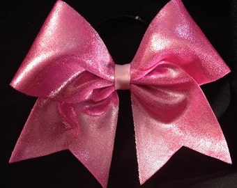 Pink Mystic Mystique Breast Cancer Awareness Cheer Bow