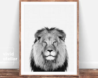 Lion Print, Animal Print, Nursery Wall Art, Nursery Prints, Digital Prints, Downloadable Prints, Printable Art, Photography Prints, Posters