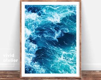 Ocean Print, Beach Decor, Coastal Decor, Ocean Photography, Ocean Prints Wall Art, Laundry Room Decor, Downloadable Prints, Art Prints