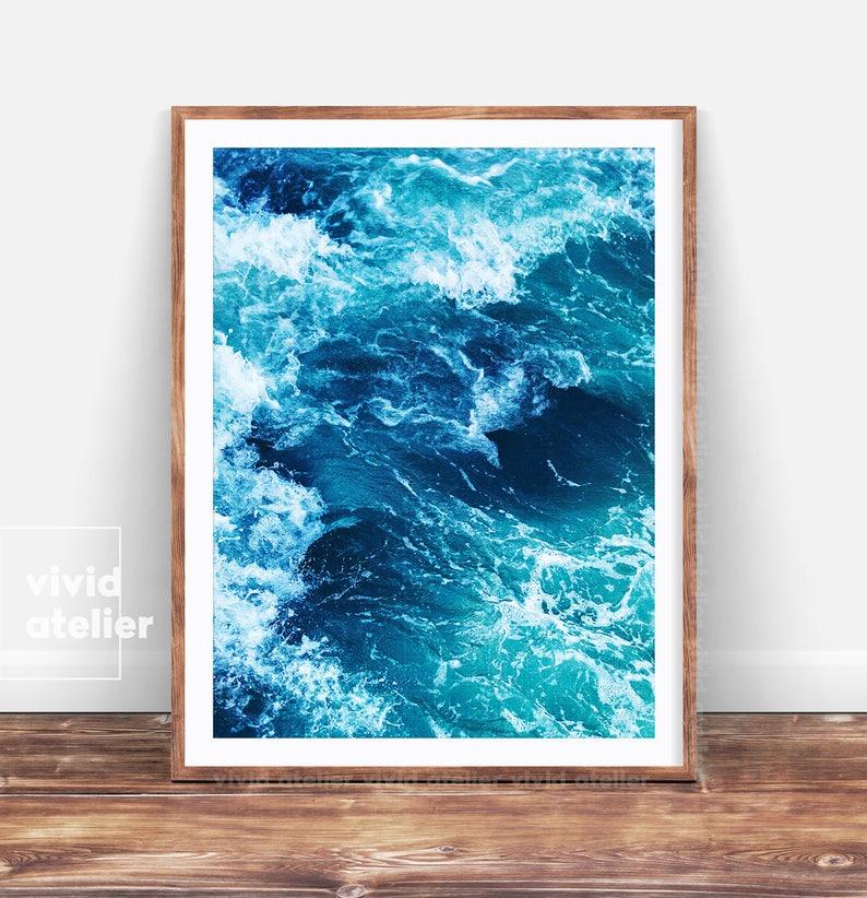 3f374fb3ea7 Ocean Print Beach Decor Coastal Decor Ocean Photography