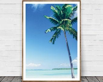 Tropical Wall Art, Palm Tree Print, Palm Print, Hawaii Art, Hawaii Deco, Palm Wall Art, Tropical Decor, Palm Tree Printable, Palm Printable
