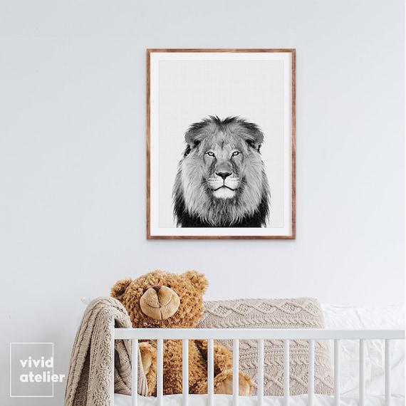 Lion Print Animal Print Nursery Wall Art Nursery Prints   Etsy