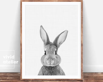 Nursery Wall Art, Nursery Decor, Rabbit Print, Bunny Print, Nursery Art, Nursery Prints, Animal Print, Printable Art Print, Woodland Nursery