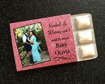 Baby Shower Favors - Personalized Photo Chewing Gum Favors - Gum Favors - Unique Favors - Personalized