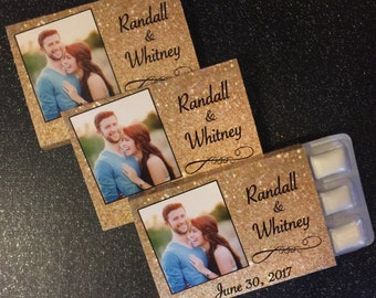 Wedding Favors - Personalized Photo Chewing Gum Favors - Gum Favors - Unique Favors - Personalized