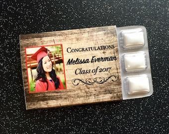 Graduation Party Favors - Personalized Photo Chewing Gum Favors - Gum Favors - Unique Favors - Personalized