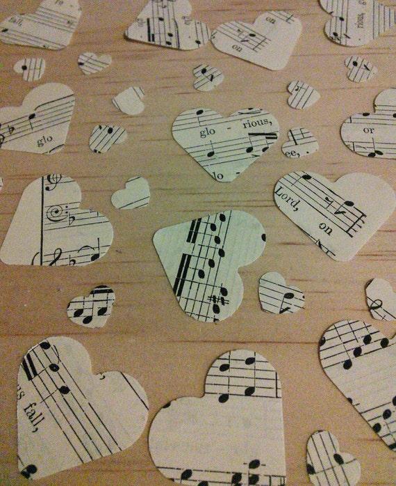 500 romantique vintage carte de papier Coeur Mariage Décoration de Table/confettis Mariage 2.5 cm Confettis