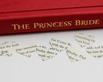 The Princess Bride Heart Confetti-- William Goldman, Buttercup, Westley, Wedding decoration, party confetti, Inigo Montoya