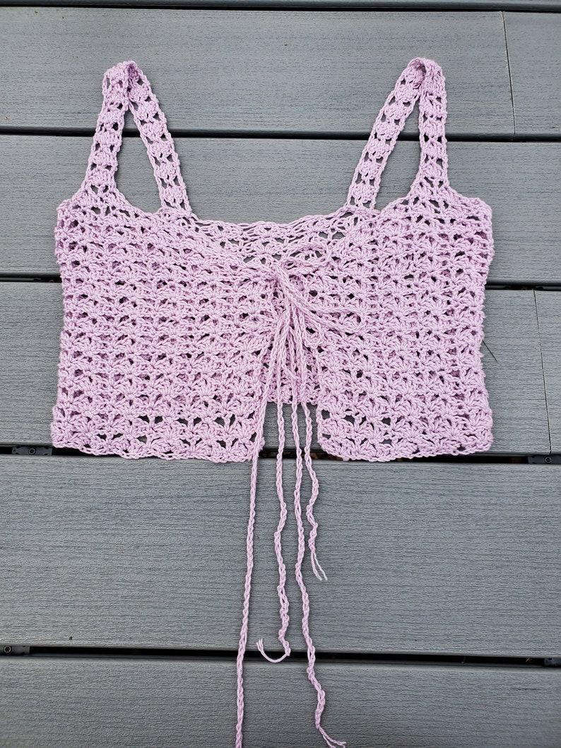 Baby Pink Tie Front Crop Top