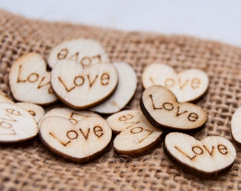 Wedding decorations etsy au 100 wedding table scatter wood hearts 12 inch diameter rustic wedding confetti heart table scatter wood love hearts table confetti junglespirit Image collections