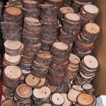 100 Discount Woodslices, Assorted Pack of Wood Slices, Tree Slices, Branch Slices, Bulk Wood Slices, Wood Rounds, 100 Wood Slice Seconds