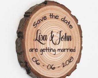 Wood Slice Save The Date Magnets • Save-The-Date • Wooden Save The Date Magnets • Rustic Save the Date Magnets • Wood Magnet Save The Date
