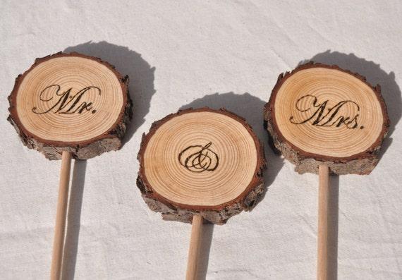 Holzscheibe Hochzeitstorte Topper Baum Scheibe Kuchen Topper Etsy
