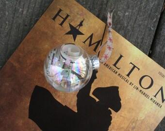 Hamilton the Musical Sheet music Christmas Ornament