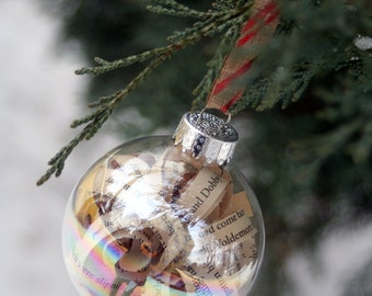 Harry Potter Book Page Christmas Ornament