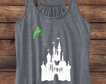 SALE | Disney GLITTER Castle Tank | Disney Home Tank | Tinkerbell Tank | Disney Princess Shirt | Disney Princess Tank | Glitter Tank Top