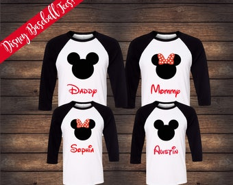 Disney Raglan Family Shirts | Matching Raglan Family Shirts | Disney Family Shirts | Mickey Minnie Shirts | Disney Baseball Shirts