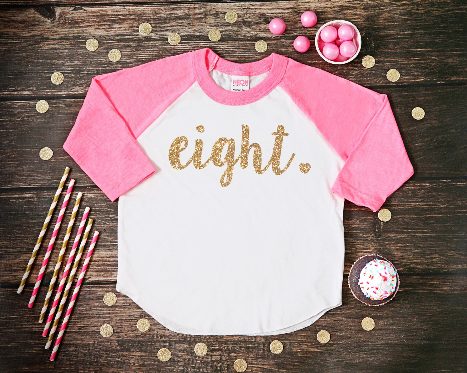 Eight Year Old Birthday Shirt Eighth Girl 8