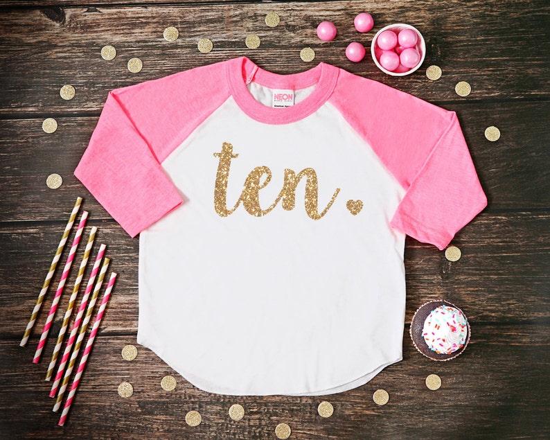 Ten Year Old Birthday Shirt Tenth Girl 10