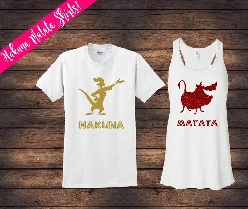 dae8aba9 Lion King Couple Shirts | Hakuna Matata Shirts | Disney Couple Shirts |  Custom Disney Shirts | Matching Disney Shirts | His & Her Shirts