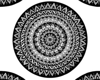 ac12bace6df Mandala Printing   Mandala Drawing   Bohemian Art   Mandalas   Mandala  Circle   Patterned Drawings   Patterned Circles   Circle Art   Hippy