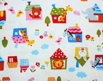 Cute Fabric Cotton Fabric Forest Kawaii Half Metre White Quilting Patchwork Supplies Natural Symphony Japanese Fabric Trees