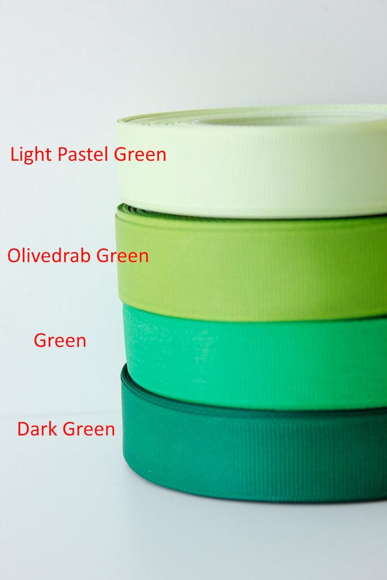 3 4 Inch Ribbon By The Yard Grosgrain Ribbon Green Colour Etsy
