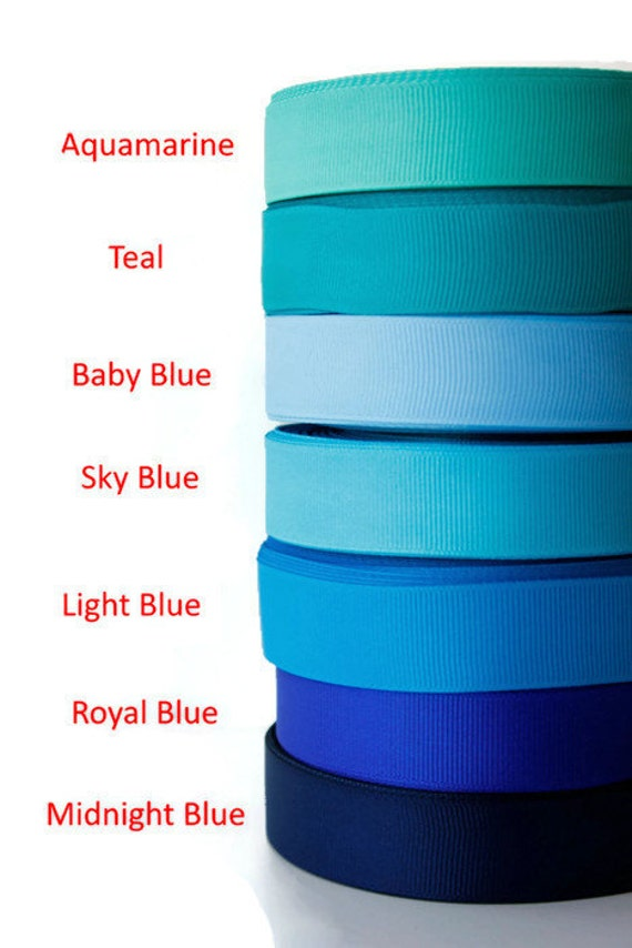 """5 each School ABC 3//8/"""" wide grosgrain ribbon the listing is for 10 yards"""