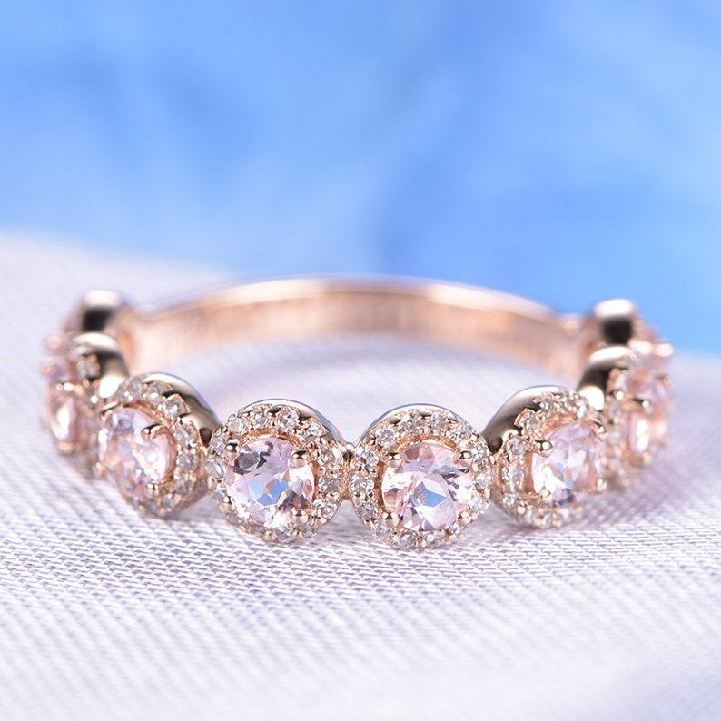 Natural White Diamond Wedding Women Bracelet Solid 14k Rose Gold Bridal Jewelry Sale Price Engagement & Wedding