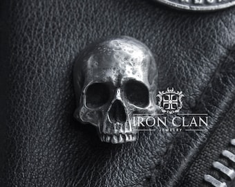 INFINITY JAWLESS (Skull Lapel Pin • Handsculpted Pin)