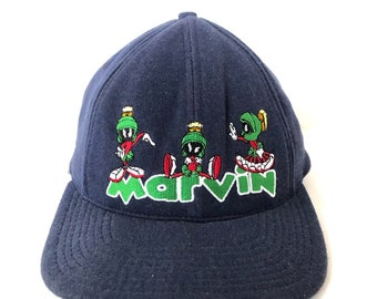090ce43c71fc6 Vintage 90s Marvin the Martian Looney Tunes SnapBack One Size Made in USA