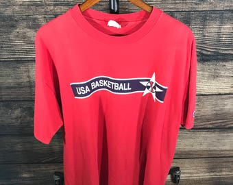 Vintage 90s USA Basketball Dream Team T Shirt Sz XL