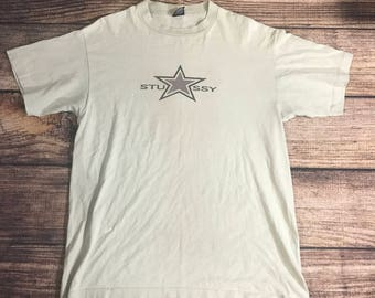 Vintage 80s 90s Stussy t shirt star rockstar Surf skate hip hop international tribe made in USA