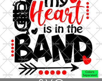 Band Mom - Shirt Design - (SVG) [Instant Download] Football, Cornet, Trumpet, Euphonium, Tuba