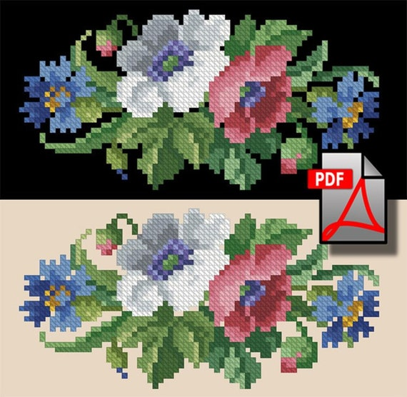 Small dog collection cross stitch and berlin wool work digital pattern
