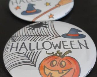 Halloween - Badge or magnet - diameter 58 mm