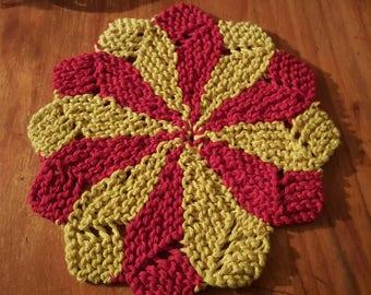 100% cotton handknitted dishcloth