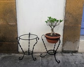 Antique Handmade Metal Flower Stand