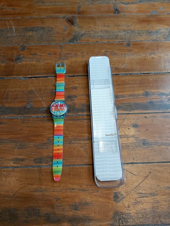 Vintage Rainbow Swatch Watch - image 1
