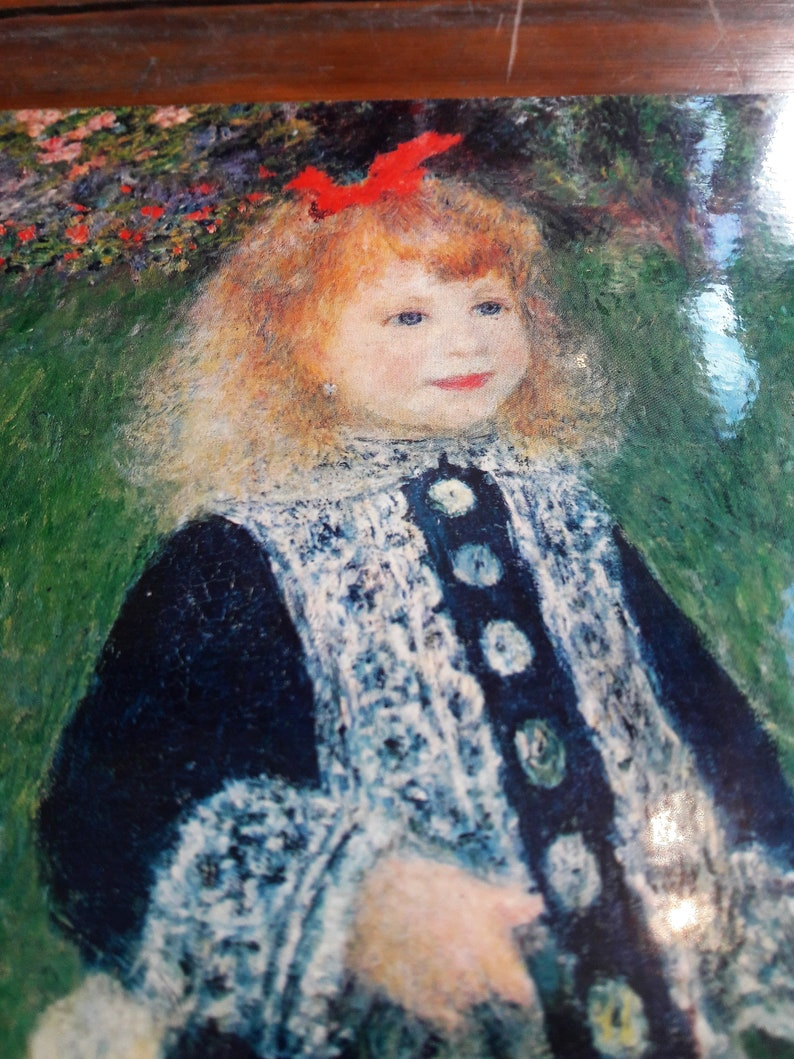 Renoir A Girl With A Watering Can Licensed Painting Print ...