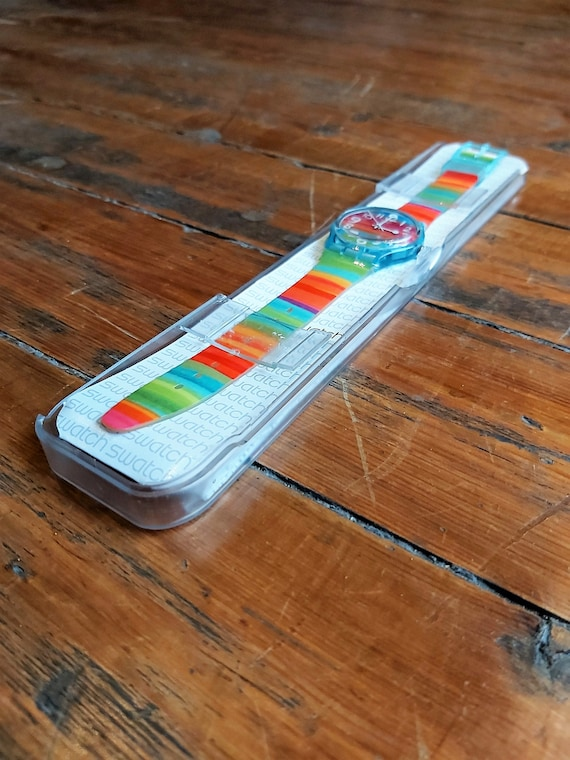 Vintage Rainbow Swatch Watch - image 4