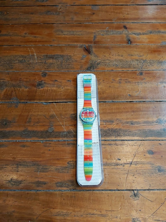 Vintage Rainbow Swatch Watch - image 2